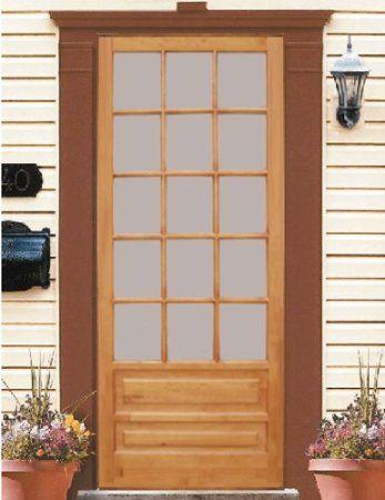 Wood Screen Door Huntington 32x80 Wood Screen Door Screen Door Hardware Door Kits