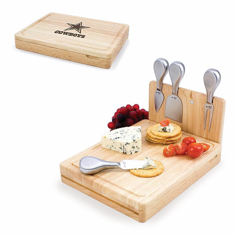 Football Fan Shop Picnic Time Asiago Cheese Board - Dallas Cowboys ... e5b55ad11