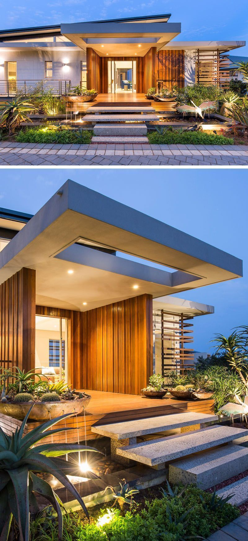 Modern House Designed Around An Indoor Swimming Pool and Multiple ...