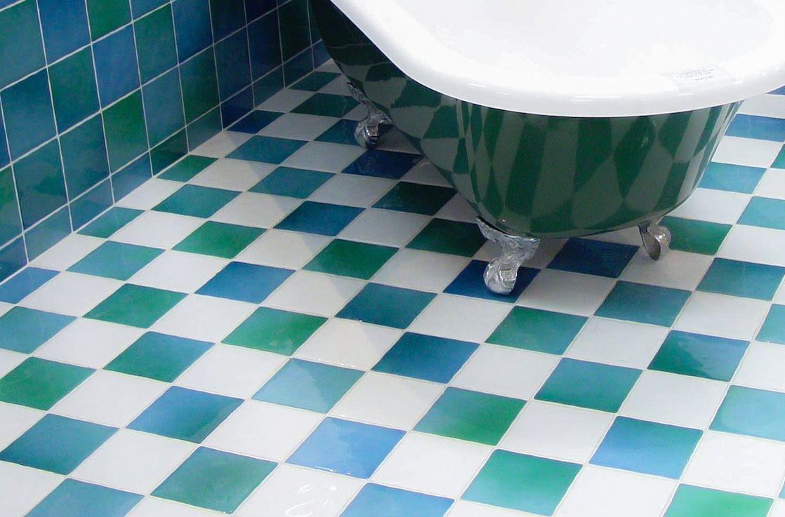 Carrelage bleu-vert turquoise pour la salle de bains | Salle ...