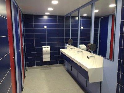 #RedandBlue #Toilet facilities at #LondonAcademy