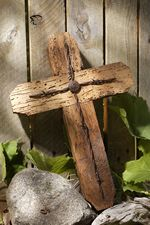Rustic wormed wood barbed wire cross | Jesus | Pinterest ...