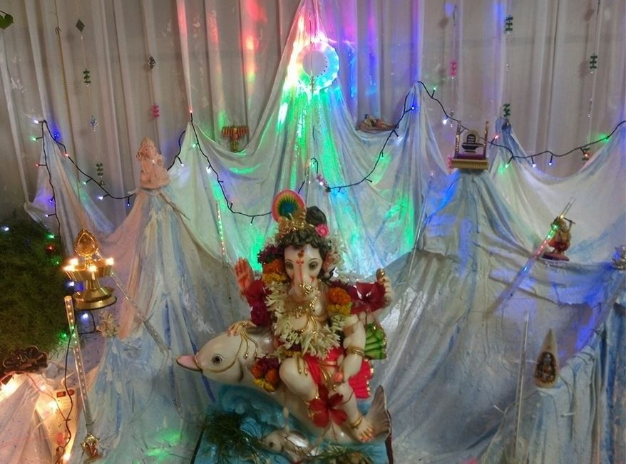 Ganpati Decoration Ideas At Home With Theme Ganpati Decoration Ideas Pinterest Decoration