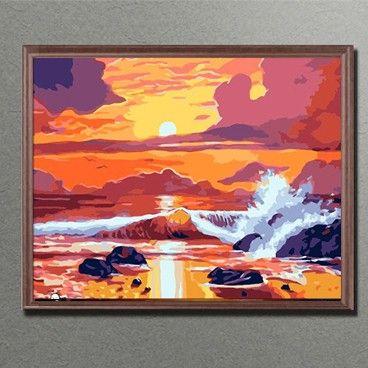Malen Nach Zahlen Wellen Im Sonnenuntergang Mnz Bbl 475 Painting Art Abstract Artwork