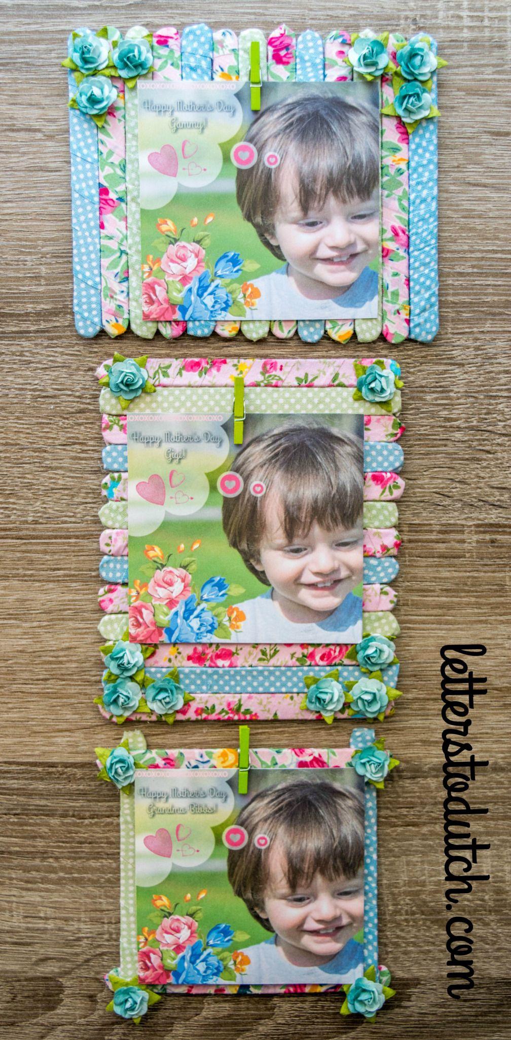 Diy popsicle stick picture frames bastelanleitungen - Selbstgemachte bilderrahmen ...