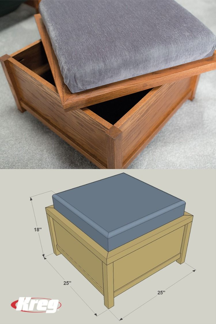 Free Project Plan How To Build A Diy Storage Ottoman Diy