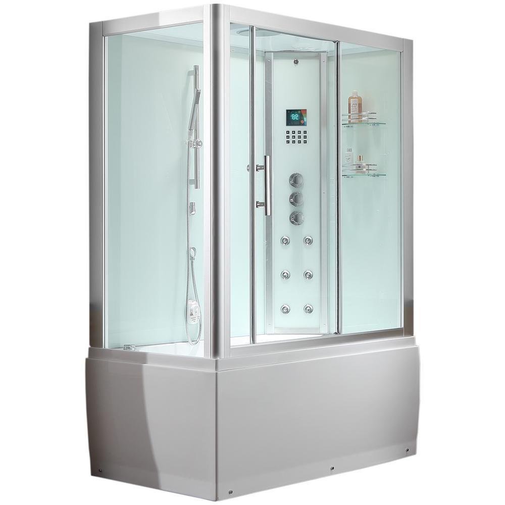 Ariel Platinum 59 In X 87 4 In X 32 In Steam Shower Enclosure
