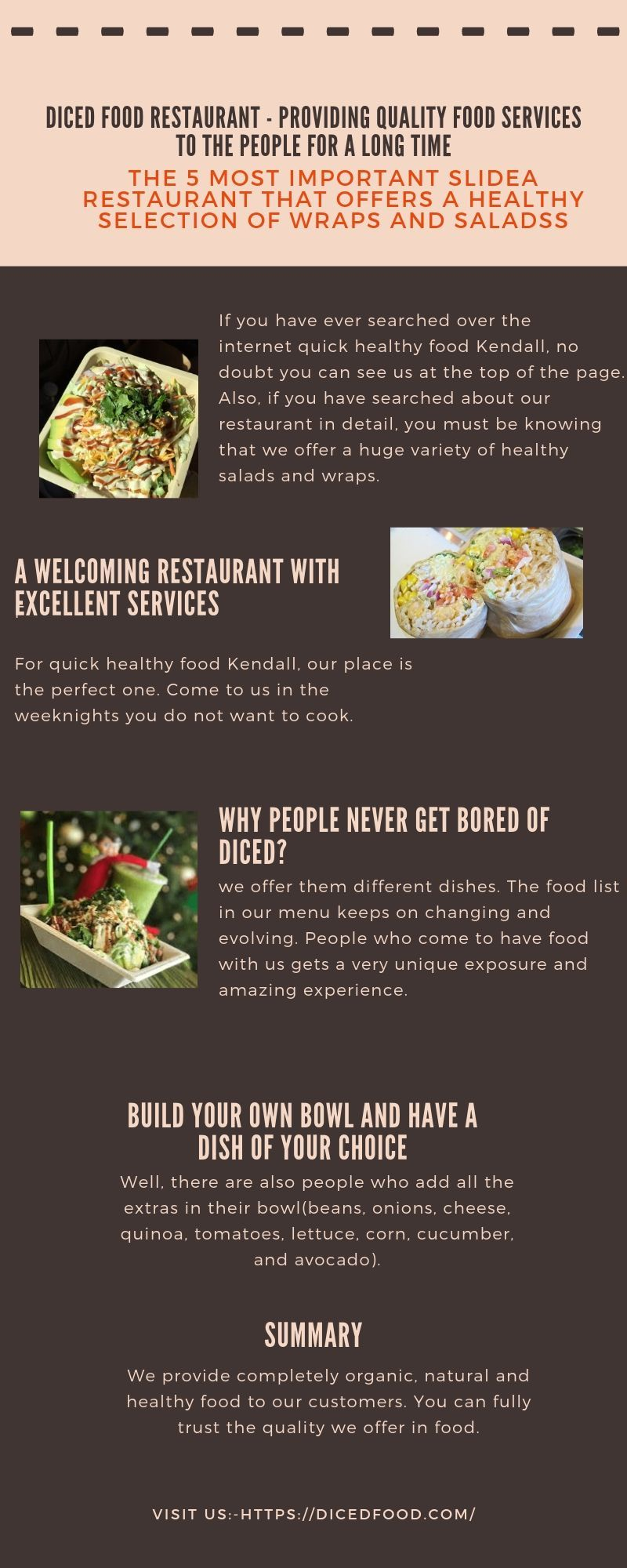 Diced Food Restaurant Providing Quality Food Services To The People For A Long Time Fresh Healthy Recipes Fast Healthy Meals Quick Healthy Meals