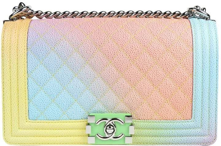 fe17ae606127 Boy leather handbag - Chanel Rainbow Purse - Multicolor Handbag ...