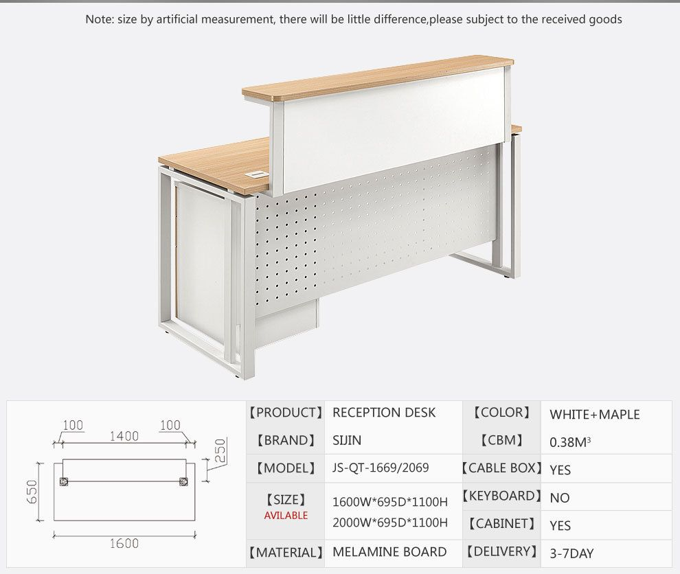modern melamine office reception table design and front office