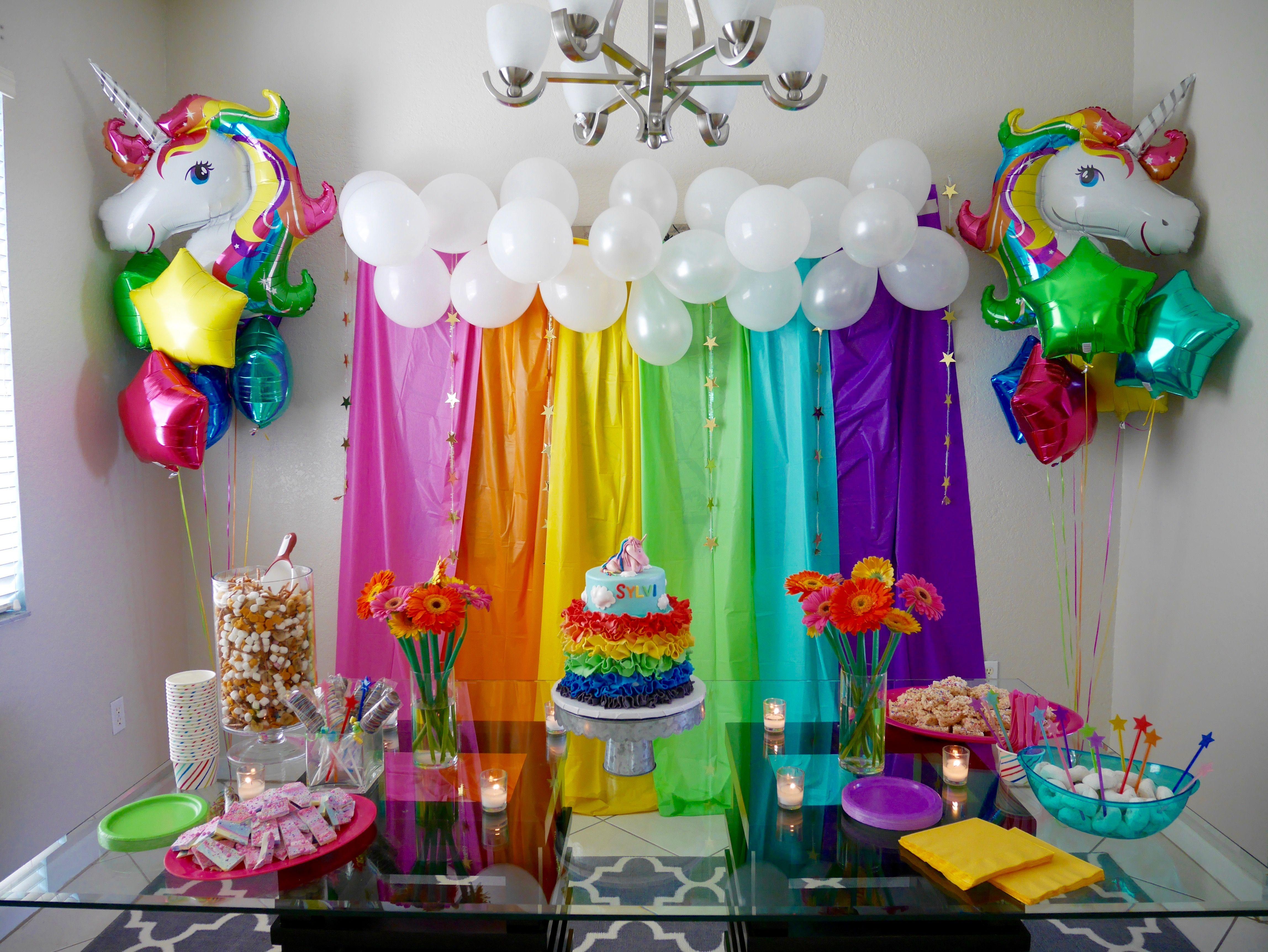 Sylvis Rainbow Unicorn Themed 4th Birthday Party I