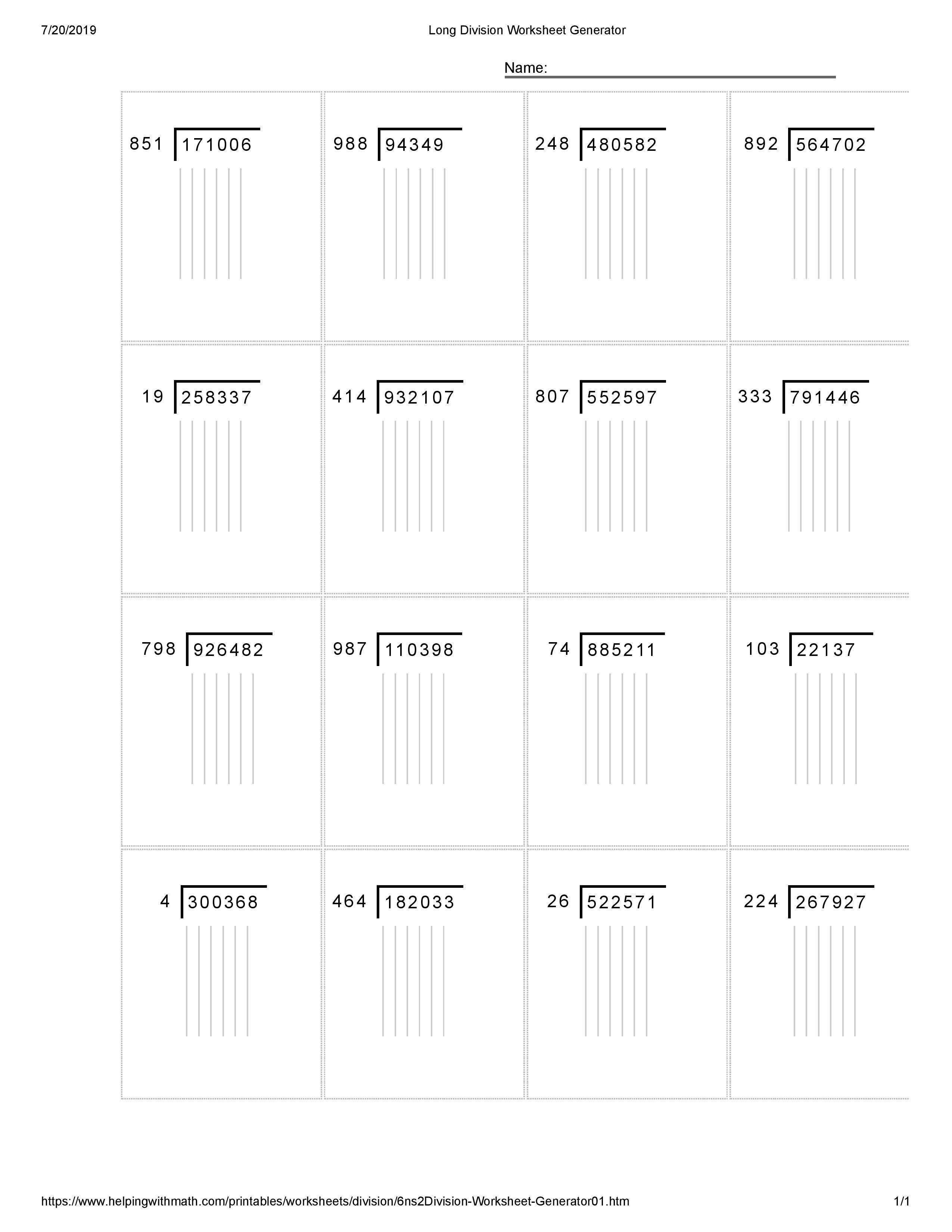 Best 15 Long Division Worksheet