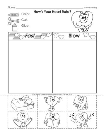 February Is Heart Month This Worksheet Is A Fun And