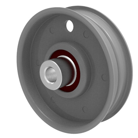 Flat Idler Pulley 3'' Flat Dia. 3/8'' Bore Steel