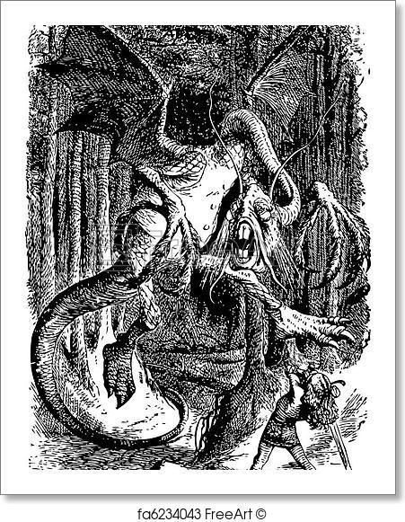 Free Art Print Of The Jabberwocky Through The Looking Glass And