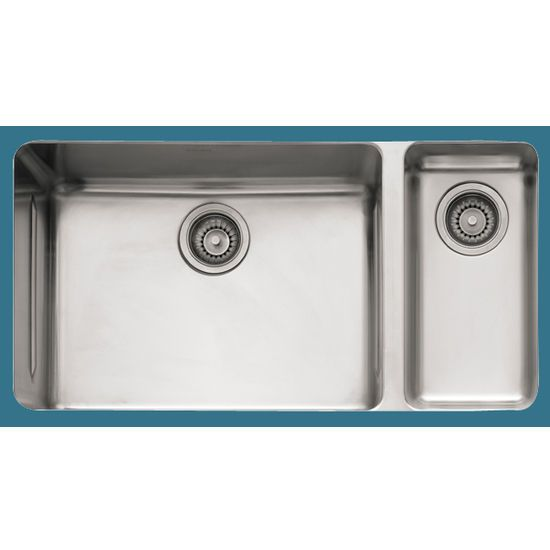 The Franke Kbx160 Kubus Series Stainless Steel Double Bowl Sink