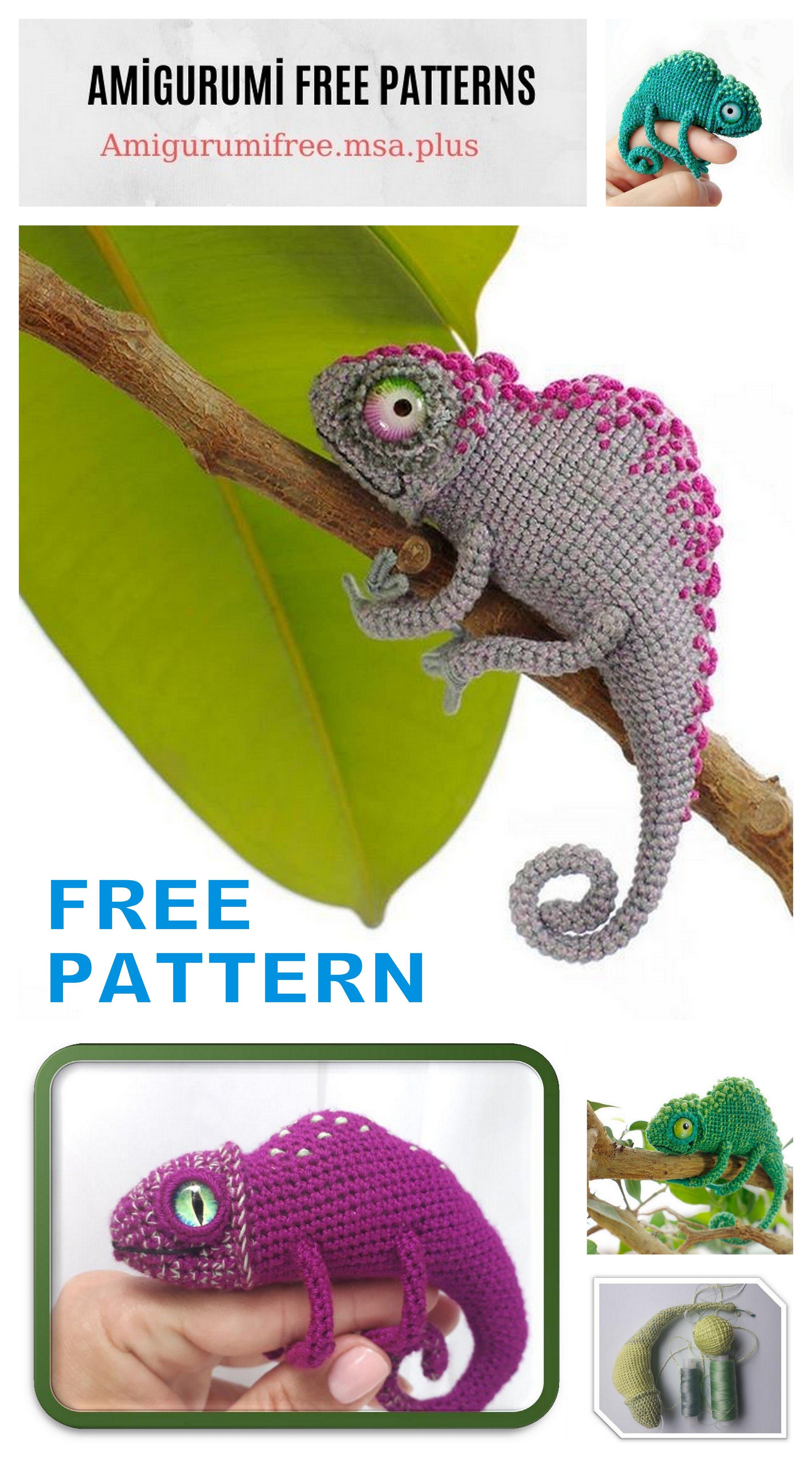 Crochet Chameleon Amigurumi Softies Toy Patterns | 5120x2845