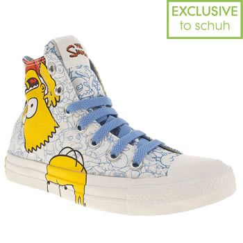 Yellow Converse Simpson Bart Faces Hi