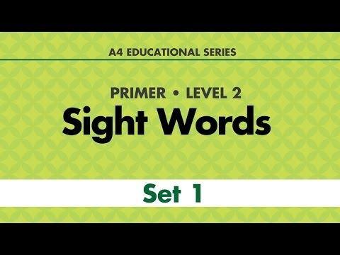 Pre-Primer Sight Words (list one) - YouTube | Pre-K Videos ...