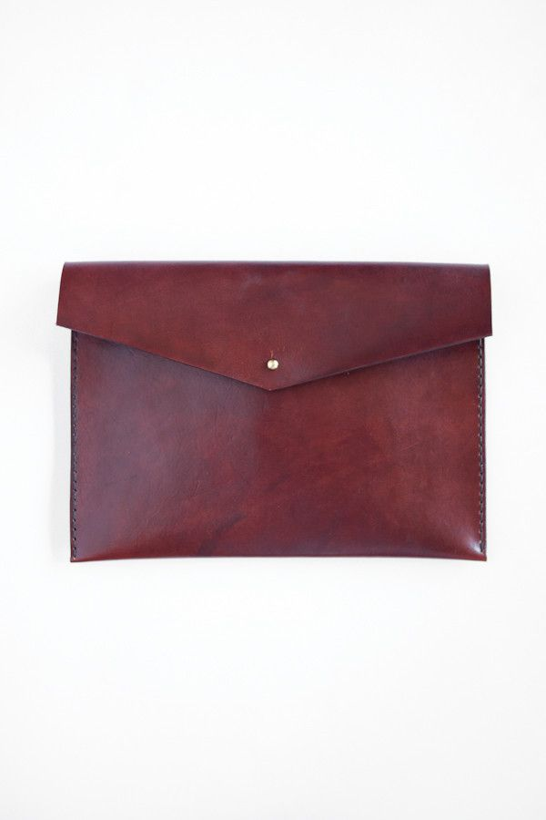 Leather ipad Clutch | Parc Boutique + Solid MFG co.