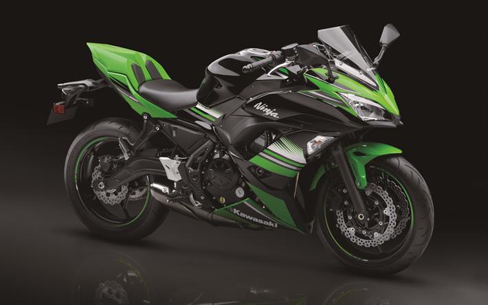 Download Wallpapers 4k, Kawasaki Ninja 650 ABS, Sportbikes