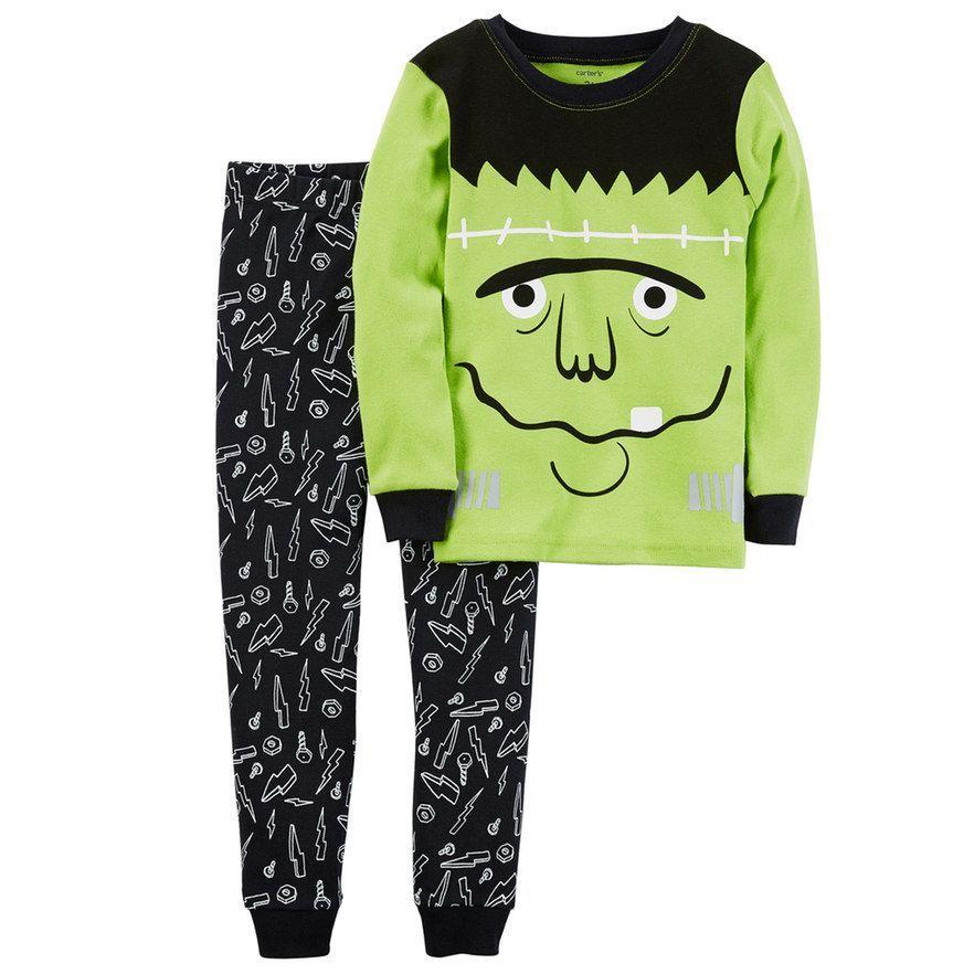 573fcfd87 Boys 4-12 Carter's Monster 2-Piece Pajama Set, Size: 10, Multicolor ...