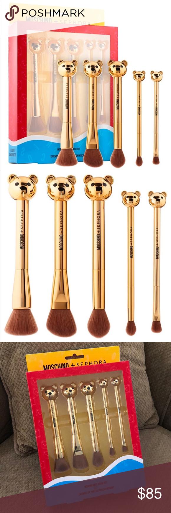 Moschino + Sephora Bear Brush Set NWT Sephora makeup