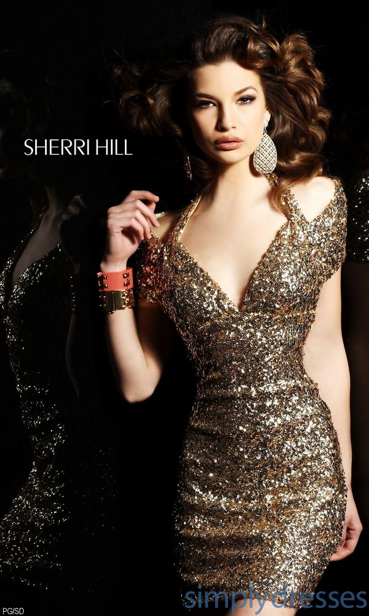 Short Open Back V-Neck Dress SH-1612