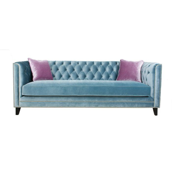 Covered In Soft Velvet These Elegant Pieces Of Home Furniture Are Crafted With A Sturdy Wooden Frame And Long Term Durab Velvet Sofa Sofa Set Blue Tufted Sofa