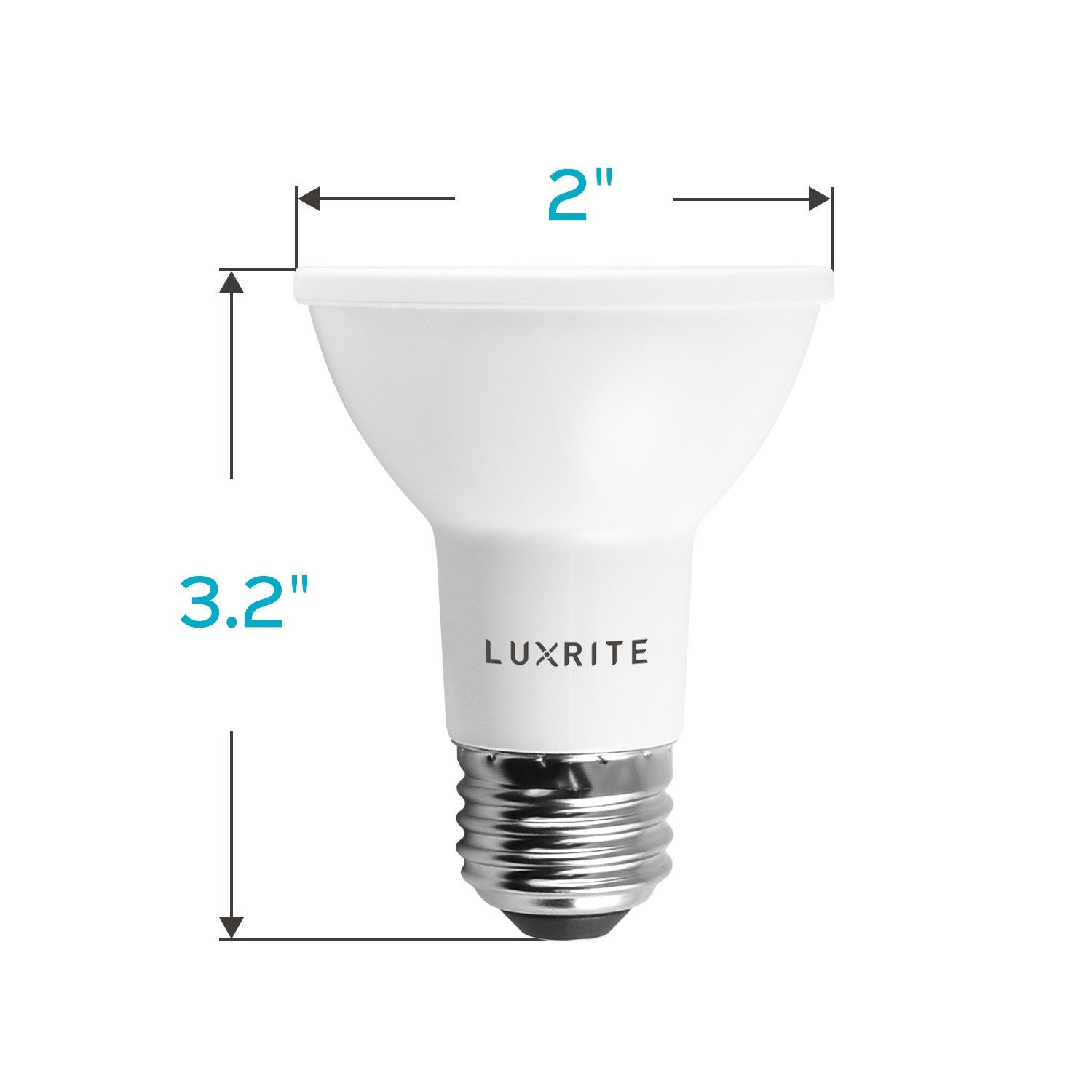 Luxrite Par20 Led Dimmable Bulb 50w Equivalent 4000k Cool White 6 5w Led Spotlight Bulb 460 Lumens Energy Star And Ul Spotlight Bulbs Led Spotlight Light Bulb