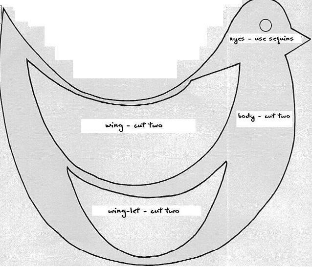 Free Primitive Sewing Patterns Stuffed Bird Pattern Sewing