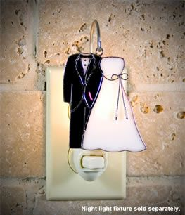 Bride and Groom Cover for Night Light Fixture. #wedding [ http://www.thegoodlifestore.com/store/index.php?main_page=product_info&cPath=255&products_id=599#.U-KXAfldVbU ]