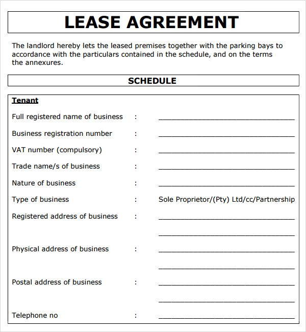 Free commercial lease agreement template excel project management free commercial lease agreement template flashek