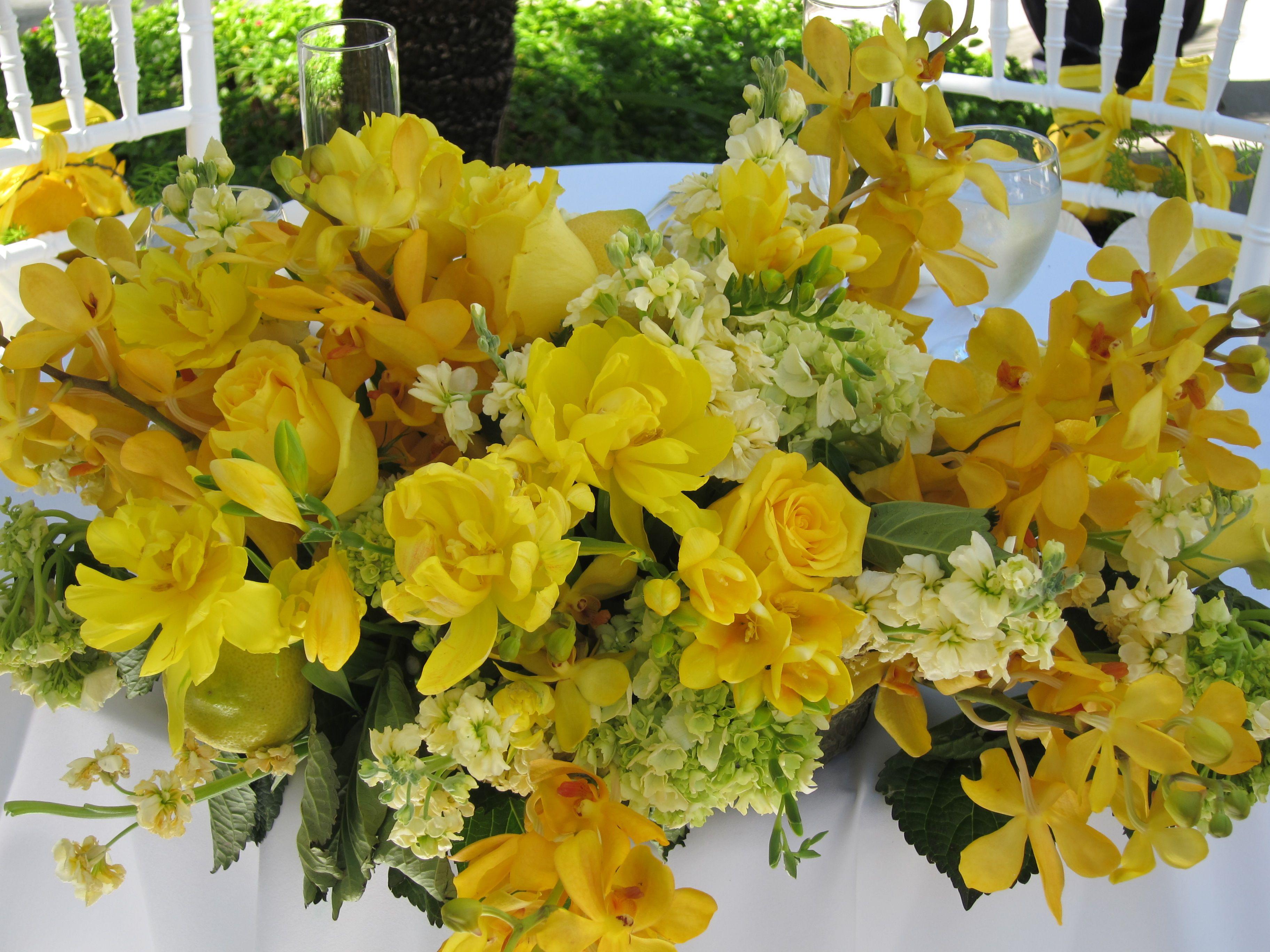 Yellow Flower Arrangement Bridal Brunch Pinterest Yellow