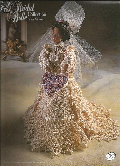 Crochet Pattern Crochet Barbie Doll Wedding Gown by luvinthecrafts