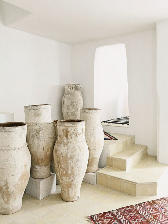 Natural Clay Pots Large Ceramics Interior Decor Home Decor
