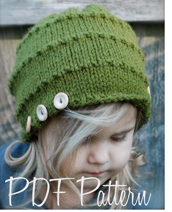 Knitting PATTERN-The Ashlyn Hat (Toddler, Child, Adult sizes ...