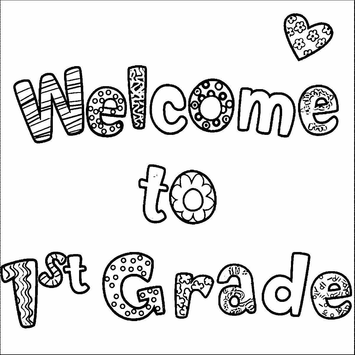 Welcome To Kindergarten Coloring Sheet Elegant Coloring Pages 35 Fantastic First Day Kinde Kindergarten Coloring Pages Color Worksheets Welcome To Kindergarten
