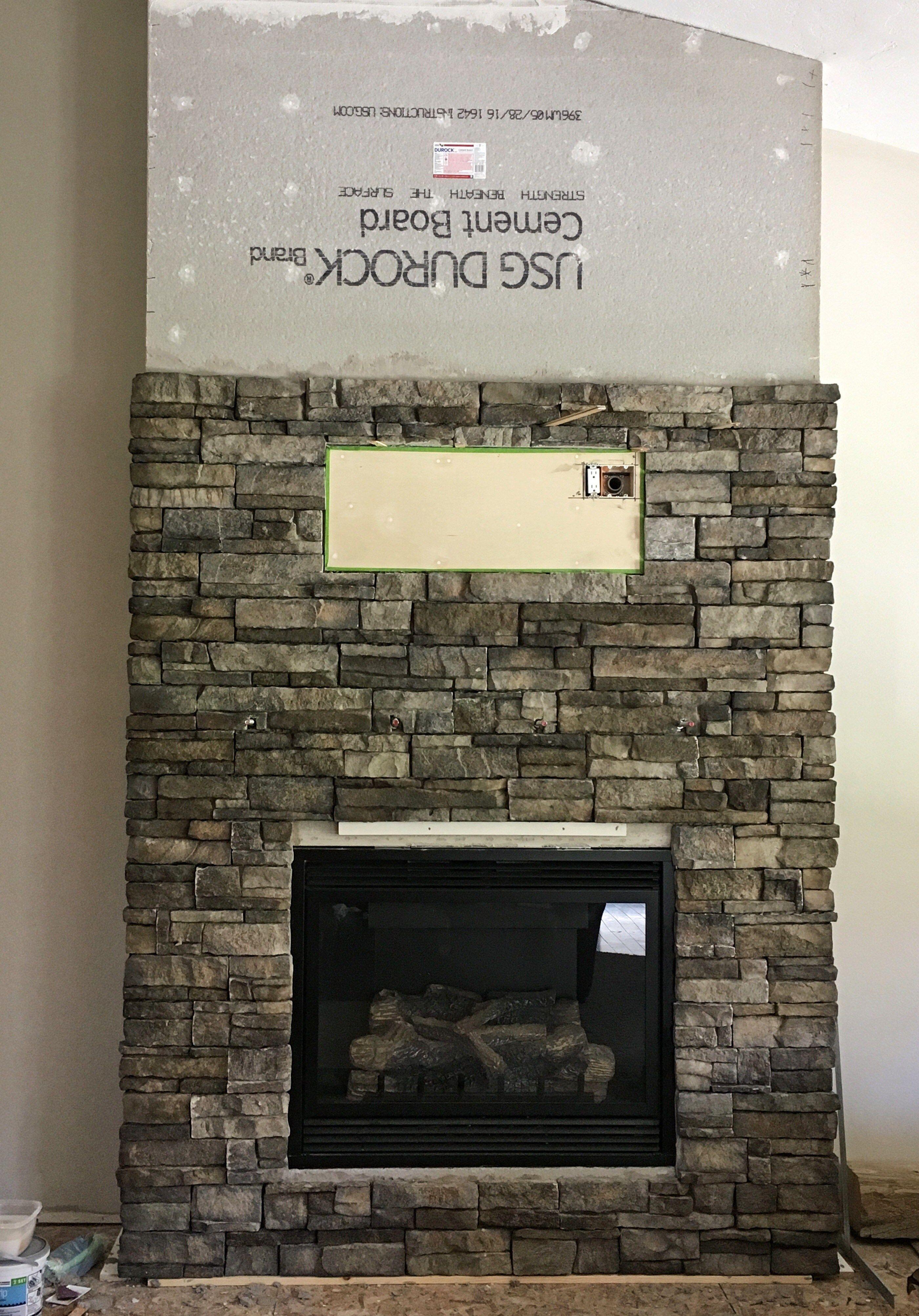 Diy stone fireplace fireplace diaries part 3 stone