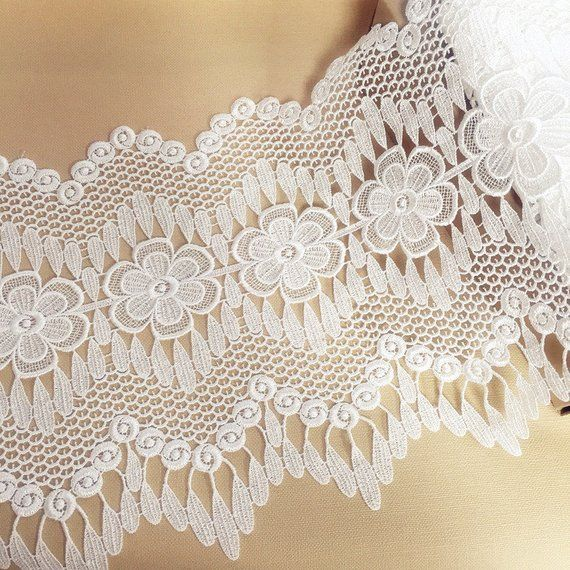 "Embroidery Scalloped Tulle Mesh Net Lace Trim 2/"" Wide 1Yd 5cm"