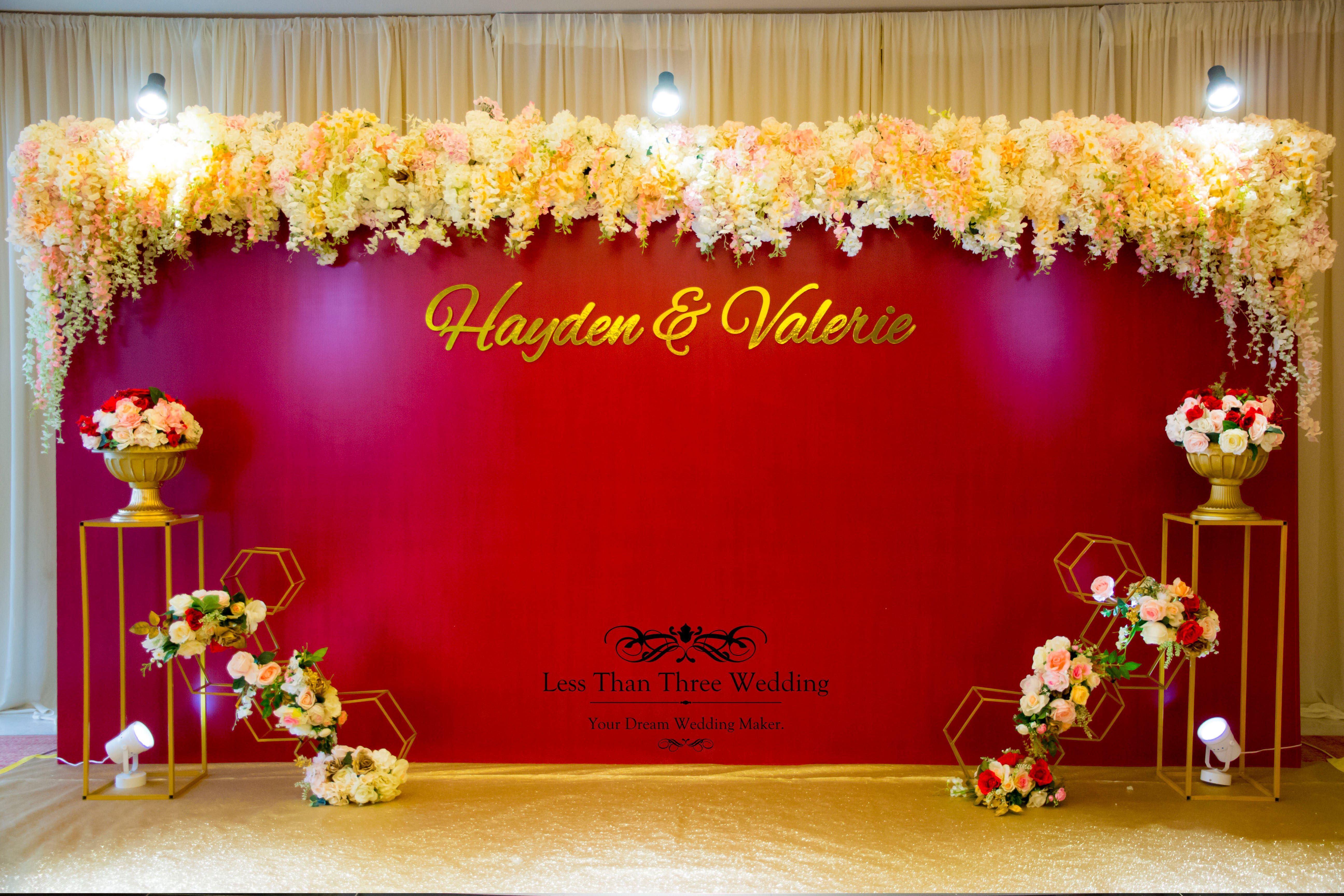 Less Than Three Wedding Photobooth Lessthanthreewedding Photobooth Red Gold Simple Elegant Backdrop Printingba Gold Backdrop Red Backdrop Wedding Deco