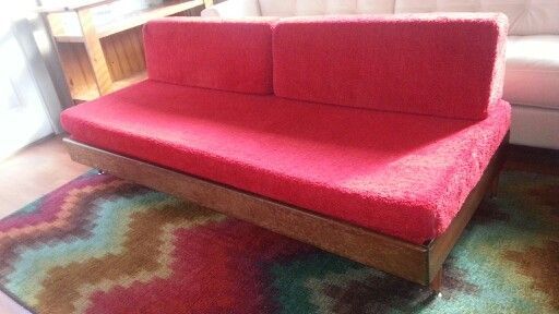 Mid Century Danish Trundle Bed Sofa Daybed