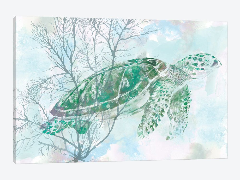 Watercolor Sea Turtle I Canvas Art By Studio W Watercolor Sea