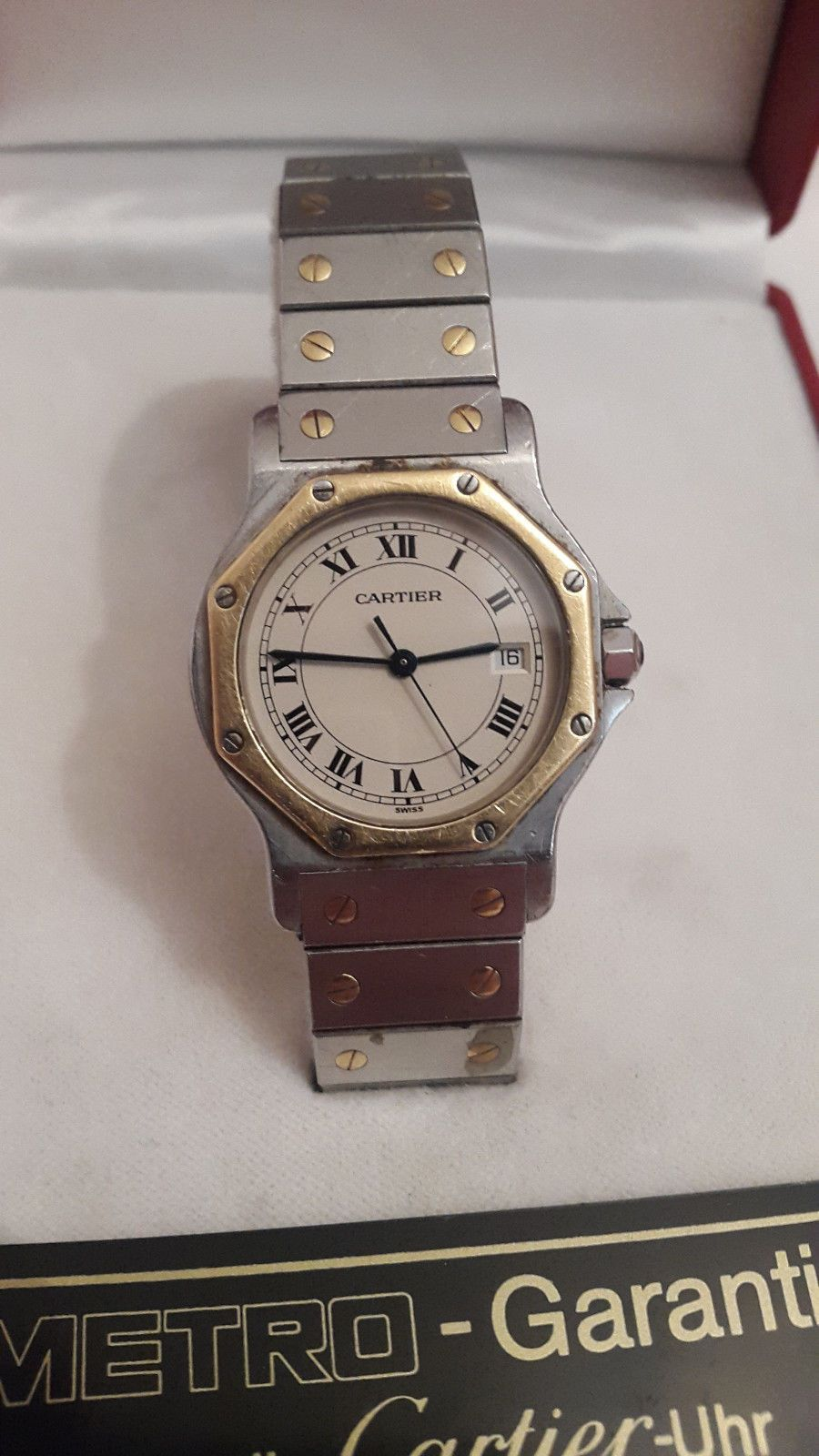 25f696fcab3 Ebay Herrenuhren Cartier Montres Santos de Cartier Armbanduhr für Herren   EUR 450