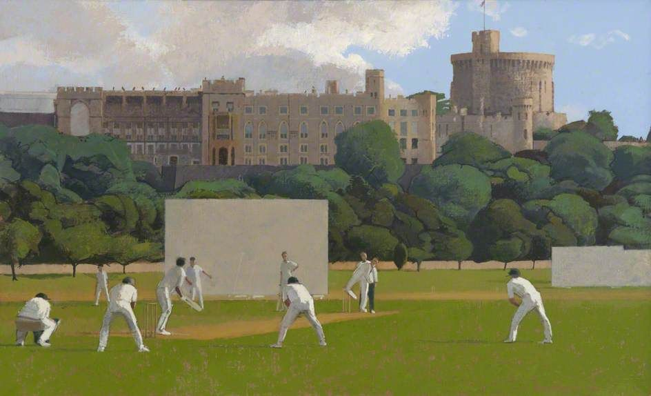 Windsor Castle And Cricket In Home Park By Alan Bennett Collection Brunel