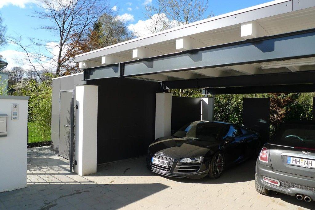 Meincarport De Carports Bauhaus Stahl Carport Architektur Gartenhaus