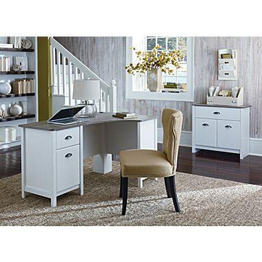Ameriwood Dover Desk Federal White Sonoma Oak Staples Sonoma Oak Home Desk