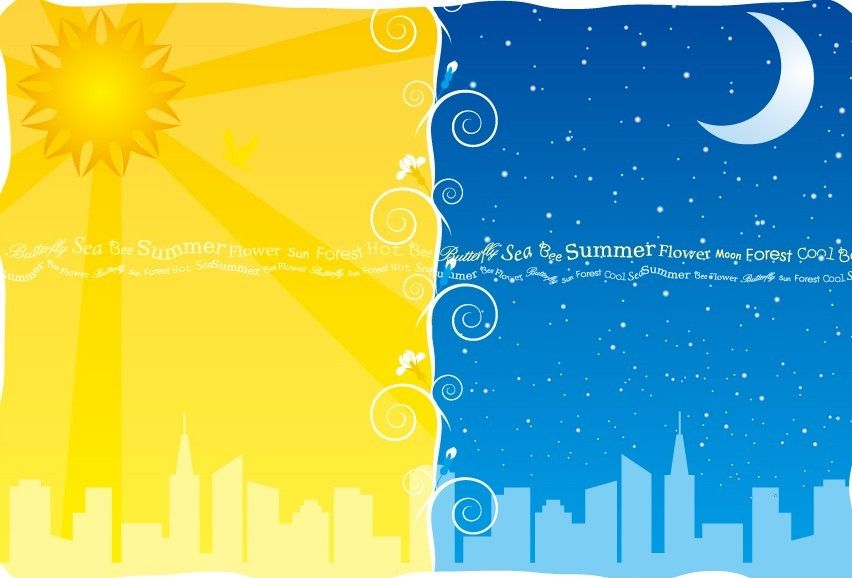 Free Lovely Day And Night Background Vector Titanui Night Background Night Illustration Web Graphic Design