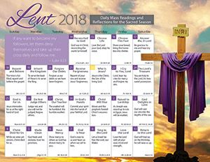 Lent 2018 Catholic Calendar Encourage and develop the traditional