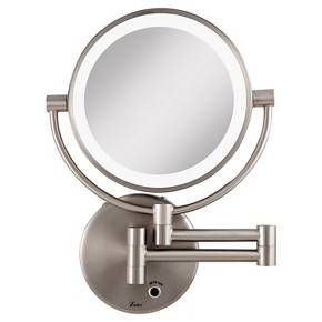 Next Generation Led Lighted 5x 1x Wall Mount Mirror Satin Nickel Lighted Wall Mirror Wall Mounted Lighted Makeup Mirror Wall Mounted Makeup Mirror